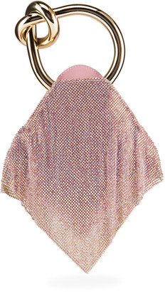 Benedetta Bruzziches Casper Little Metallic Mesh Top-Handle Bag, Light Rose