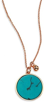 ginette_ny Wise Ever Turquoise & 18K Rose Gold Pendant Necklace