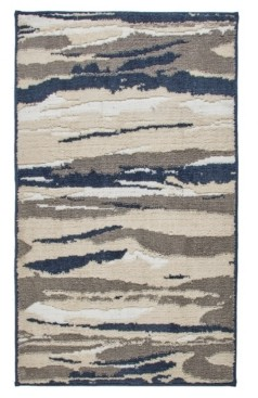 """Seventh Studio Textured Strokes 27"""" x 45"""" Tufted Scatter Rug Bedding"""