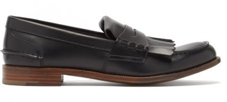 Church's Odessa Fringed Leather Penny Loafers - Black
