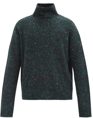 Acne Studios Roll-neck Marled Wool-blend Sweater - Black