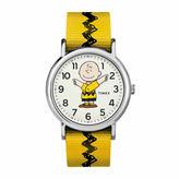 Timex Weekender Peanuts Peanuts Unisex Yellow Strap Watch-Tw2r41100jt