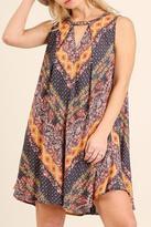 Umgee USA Mixed Floral Mini Dress