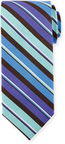Peter Millar Striped Silk Tie, Catalina Purple