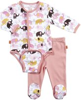 Magnificent Baby L/S Burrito Bodysuit & Pants - Girl's Elephant-NB