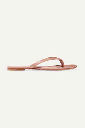 Gianvito Rossi Leather Flip Flops - Taupe