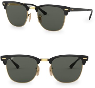 Ray-Ban RB3716 51MM Classic Clubmaster Polarized Sunglasses