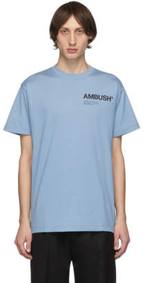 Ambush SSENSE Exclusive Blue Logo T-Shirt