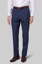 Moss Esq. Regular Fit Blue Speckle Trousers
