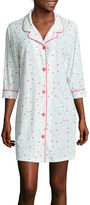 Asstd National Brand Warm Milk by BedHead Pajamas 3/4-Sleeve Button-Front Nightshirt