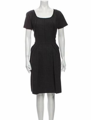 Dolce & Gabbana Scoop Neck Knee-Length Dress Grey