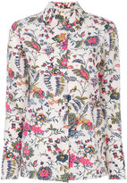 Tory Burch floral print shirt - women - Silk - 4