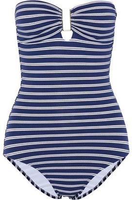 Melissa Odabash Argentina Striped Stretch-pique Bandeau Swimsuit