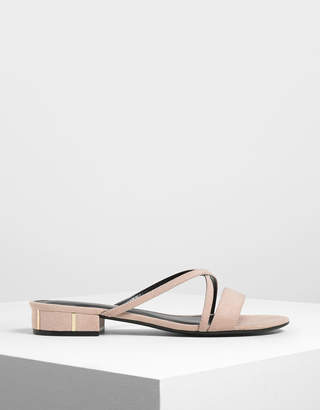 Charles & Keith Criss Cross Strappy slide Sandals