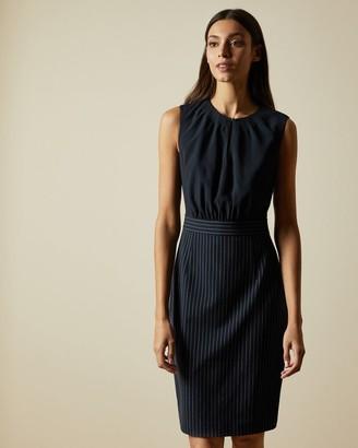 Ted Baker Mockable Dress With Stripe Skirt