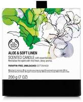 The Body Shop Aloe & Soft Linen Scented Candle