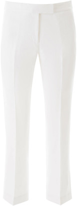 MICHAEL Michael Kors LINEN PANTS 4 White Linen