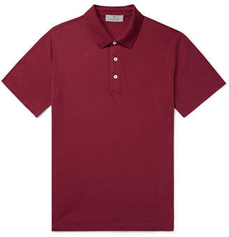 Canali Stretch-Cotton Pique Polo Shirt