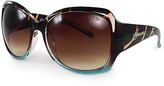 GUESS Women's Sunglasses Brown - Tortoise & Brown Gradient Tall Cat-Eye Sunglasses - Women