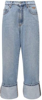 MSGM Cotton Denim Straight Leg Jeans