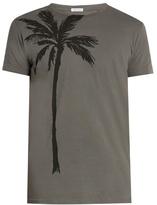 Tomas Maier Palm-print Cotton T-shirt