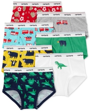 Carter's Boys 7-Pk. Cotton Printed Briefs