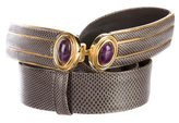 Judith Leiber Karung Embellished Waist Belt