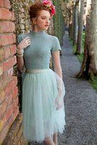 Shabby Apple Bloom Skirt Mint Green