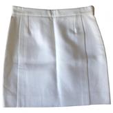 Balenciaga White Cotton Skirt