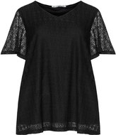 Studio Plus Size Lace v-neck top