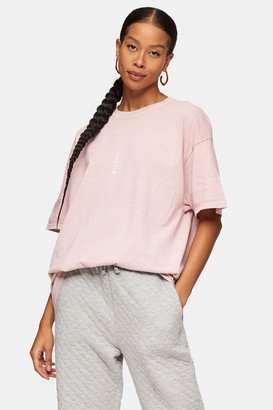 Topman Womens Pink Vertical London T-Shirt - Pink