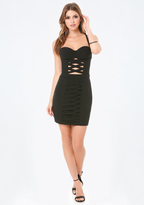 Bebe Laced Front Bustier Dress
