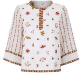 Andrew Gn Embroidered Flower Top