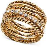 INC International Concepts Gold-Tone Pavé Stack-Look Ring, Only at Macy's