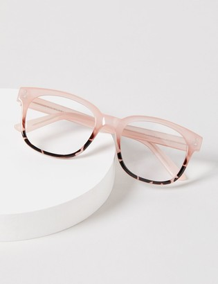 Lane Bryant Blush Tortoise Print Reading Glasses