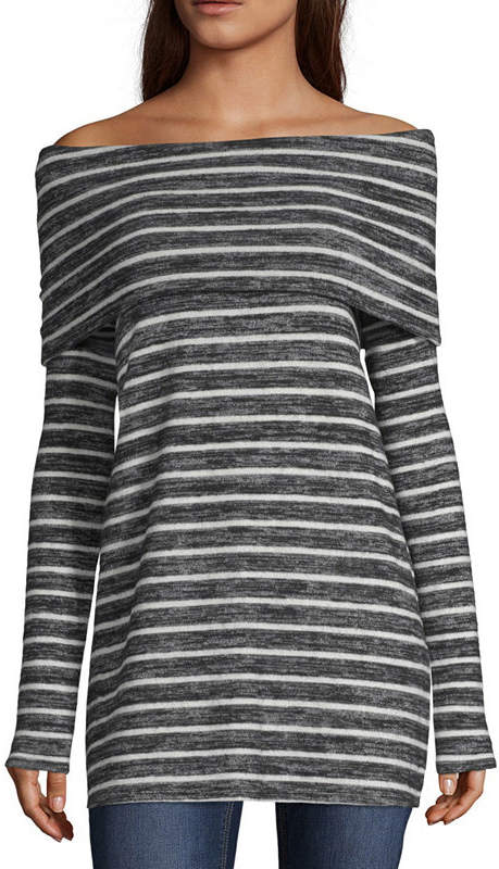A.N.A Womens Long Sleeve Knit Blouse