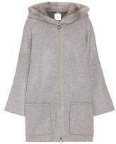 Agnona Jerfed mink-trimmed cashmere coat