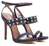Tabitha Simmons Fayelinn Stone denim sandals