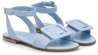 Mi Mi Sol TEEN buckled ankle strap sandals round toe