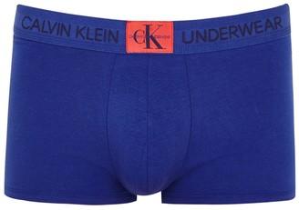 Calvin Klein Royal Blue Stretch-cotton Trunks