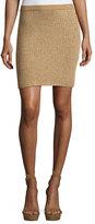 Ralph Lauren Knit Mini Skirt, Gold