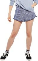 Topshop Women's Ruffle Space-Dye Runner Shorts