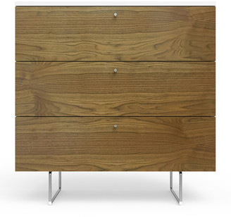 "Spot On Square 34"" Alto Dresser, White/Walnut"