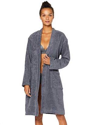 Iris & Lilly OZBF004041 Dressing Gown, (Grey), (Size:L)