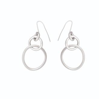 Lily Flo Jewellery 9K Embrace White Gold Drop Earrings