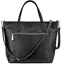GiGi New York Women's Lexi Python-Embossed Leather Crossbody Bag