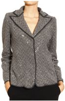 Giorgio Armani Blazer Chevron With Embrodery And Strass
