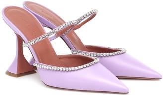 Amina Muaddi Gilda embellished leather mules