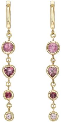 Mocola Four Tier Pink Tourmaline Gem Drop Earrings