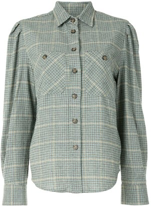 Etoile Isabel Marant Falco checked long-sleeved shirt